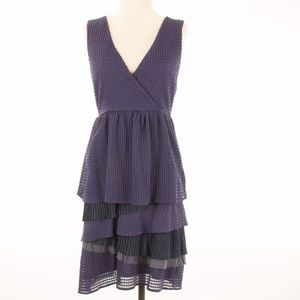 Anthropologie Ric Rac Dress Purple Fit Flare